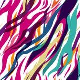 безшовная зебра Стоковое Изображение