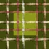 Безшовная зеленая картина вектора тартана striped картина шотландки Стоковое Фото