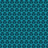 Безшовная зеленая картина куба Стоковая Фотография RF