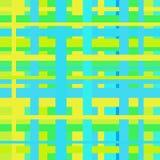 Безшовная зеленая геометрическая линейная картина Стоковая Фотография RF