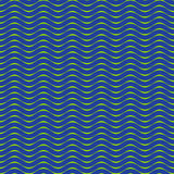 Безшовная зеленая голубая предпосылка картины волн Иллюстрация вектора