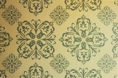 Безшовная зеленая классическая картина для предпосылки Стоковое Фото