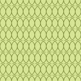 Безшовная зеленая предпосылка с овалами Стоковое Изображение