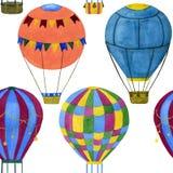 Безшовная иллюстрация воздушных шаров иллюстрация вектора