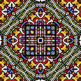 Безшовная иллюстрация панели цветного стекла Стоковое Фото