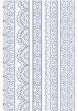 Безшовная линейная волнистая граница Стоковое Фото