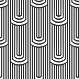 Безшовная линейная картина, черно-белая, геометрическая предпосылка Стоковая Фотография