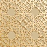 Безшовная исламская картина 3d Традиционный арабский элемент дизайна Стоковая Фотография RF