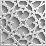 Безшовная исламская картина 3d Традиционный арабский элемент дизайна Стоковая Фотография