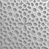 Безшовная исламская картина 3d Традиционный арабский элемент дизайна Стоковые Фото