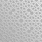 Безшовная исламская картина 3d Традиционный арабский элемент дизайна Стоковое Фото