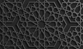 Безшовная исламская картина 3d Традиционный арабский элемент дизайна Стоковое фото RF