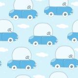 Безшовная иллюстрация вектора картины шаржа автомобиля Стоковые Фотографии RF