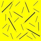 Безшовная иллюстрация вектора предпосылки желтого цвета карандаша картины Стоковая Фотография