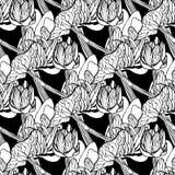 Безшовная иллюстрация вектора цветочного узора Стоковая Фотография