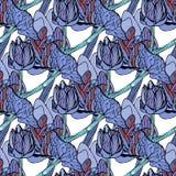 Безшовная иллюстрация вектора цветочного узора Стоковое Изображение