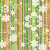 Безшовная иллюстрация предпосылки с цветками Стоковая Фотография RF