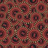 Безшовная иллюстрация с кругами которые сделали на низкопробной Виктории Стоковое Изображение