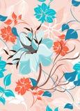 Безшовная иллюстрация цветка весны Стоковая Фотография RF