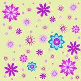 Безшовная иллюстрация цветков Стоковое Изображение