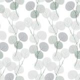 Безшовная картина абстрактных ветвей бесплатная иллюстрация