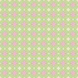 Безшовная картина абстрактных цветков иллюстрация вектора