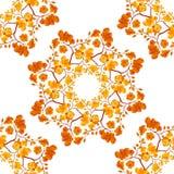 Безшовная картина акварели с цветками орхидеи стоковые фотографии rf