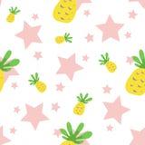 Безшовная картина ананаса Стоковое Изображение