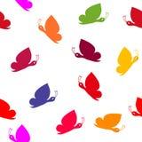 Безшовная картина бабочки стоковое фото