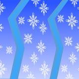 Безшовная картина бирюзы с снежинками Стоковое Изображение