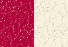 Безшовная картина бутонов цветка иллюстрация вектора
