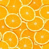 Безшовная картина вектора отрезанных сочных зрелых апельсинов Стоковые Изображения