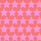 Безшовная картина вектора с звездами и сердцами Стоковая Фотография