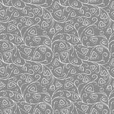 Безшовная картина вектора с линиями сложной формы нарисованными рукой Стоковая Фотография RF