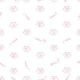 Безшовная картина вектора с котами Стоковые Фото