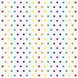 Безшовная картина вектора с красочными точками польки иллюстрация вектора
