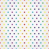 Безшовная картина вектора с красочными точками польки Стоковое фото RF