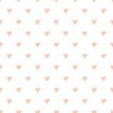 Безшовная картина вектора с сердцем нарисованным рукой Стоковое Фото