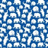 Безшовная картина вектора с слонами Смогите быть использовано для ткани, предпосылки вебсайта Стоковая Фотография