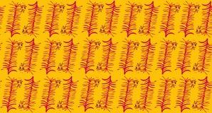 Безшовная картина вектора с тропическими листьями и цветками орхидеи бесплатная иллюстрация