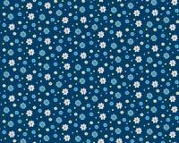 Безшовная картина вектора с цветками мультфильма бесплатная иллюстрация