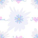 Безшовная картина вектора с цветками Стоковые Изображения RF