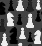 Безшовная картина вектора с шахматами на серой предпосылке иллюстрация вектора