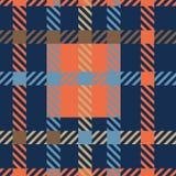 Безшовная картина вектора тартана striped картина шотландки Стоковые Изображения