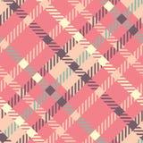 Безшовная картина вектора тартана striped картина шотландки Стоковые Фотографии RF