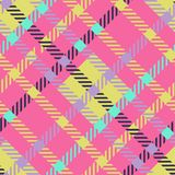 Безшовная картина вектора тартана striped картина шотландки Стоковые Фото