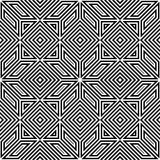 Безшовная картина вектора, черно-белая, квадратная мозаика Стоковые Изображения RF