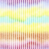 Безшовная картина весны watercolour с вертикальными белыми нашивками иллюстрация вектора
