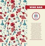 Безшовная картина вина Стоковое фото RF