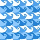 Безшовная картина. Волна Стоковое фото RF
